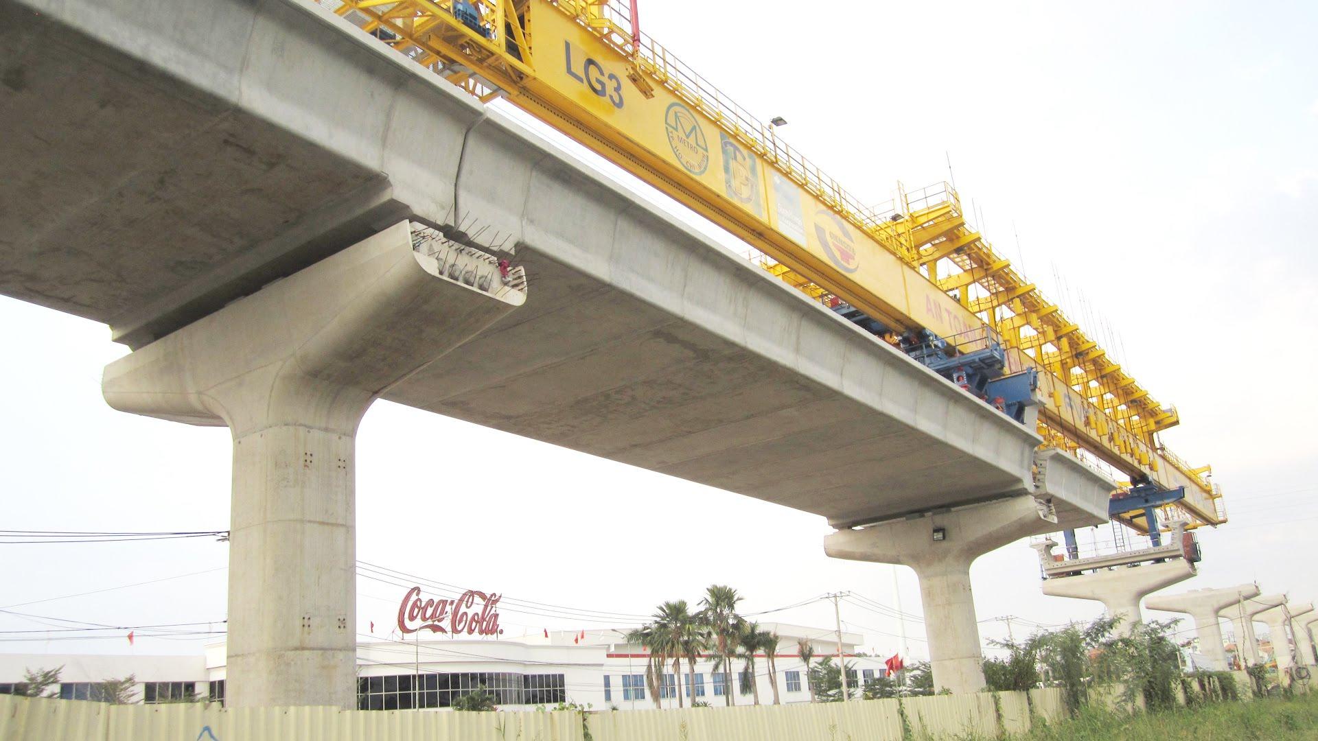 Tuyến Metro số 1 đang trong giai đoạn xây dựng