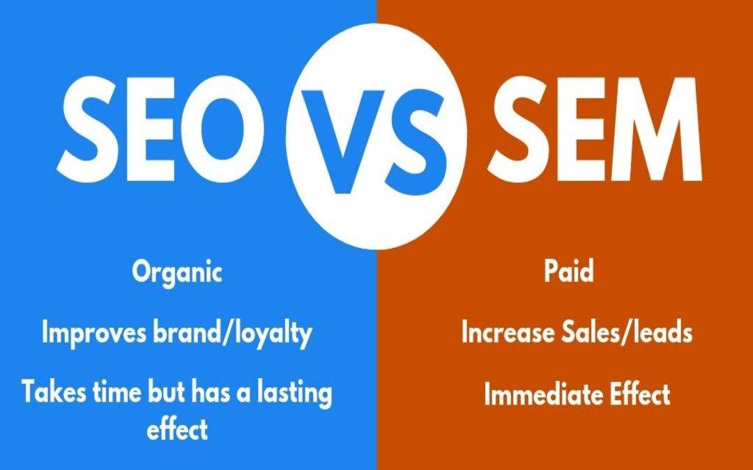 Sự khác nhau giữa SEO và SEM
